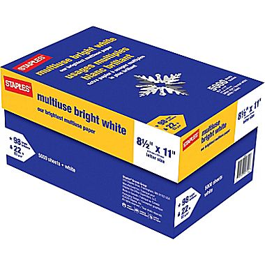 Staples Bright White Paper 5 000 Sheet Case Sale 29 99