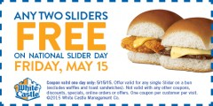White Castle 2 Free Sliders Day
