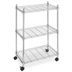 Wire Shelving Cart Unit – 3 Shelves w/casters Sale