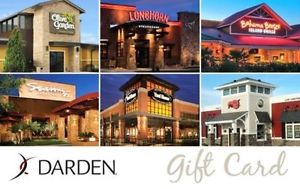 $50 Darden Gift Card for $40 – Olive Garden, LongHorn, etc