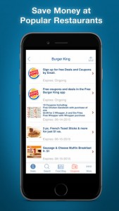 Burger King coupons app