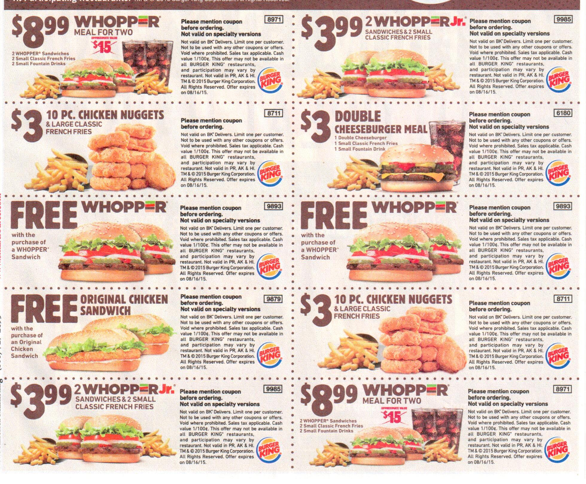 Burger King Coupon 2017 2018 Best Cars Reviews