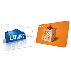 picture of $120 Home Depot or Lowe's eGift Cards for $105