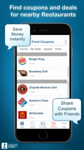 food coupons app fast food coupons
