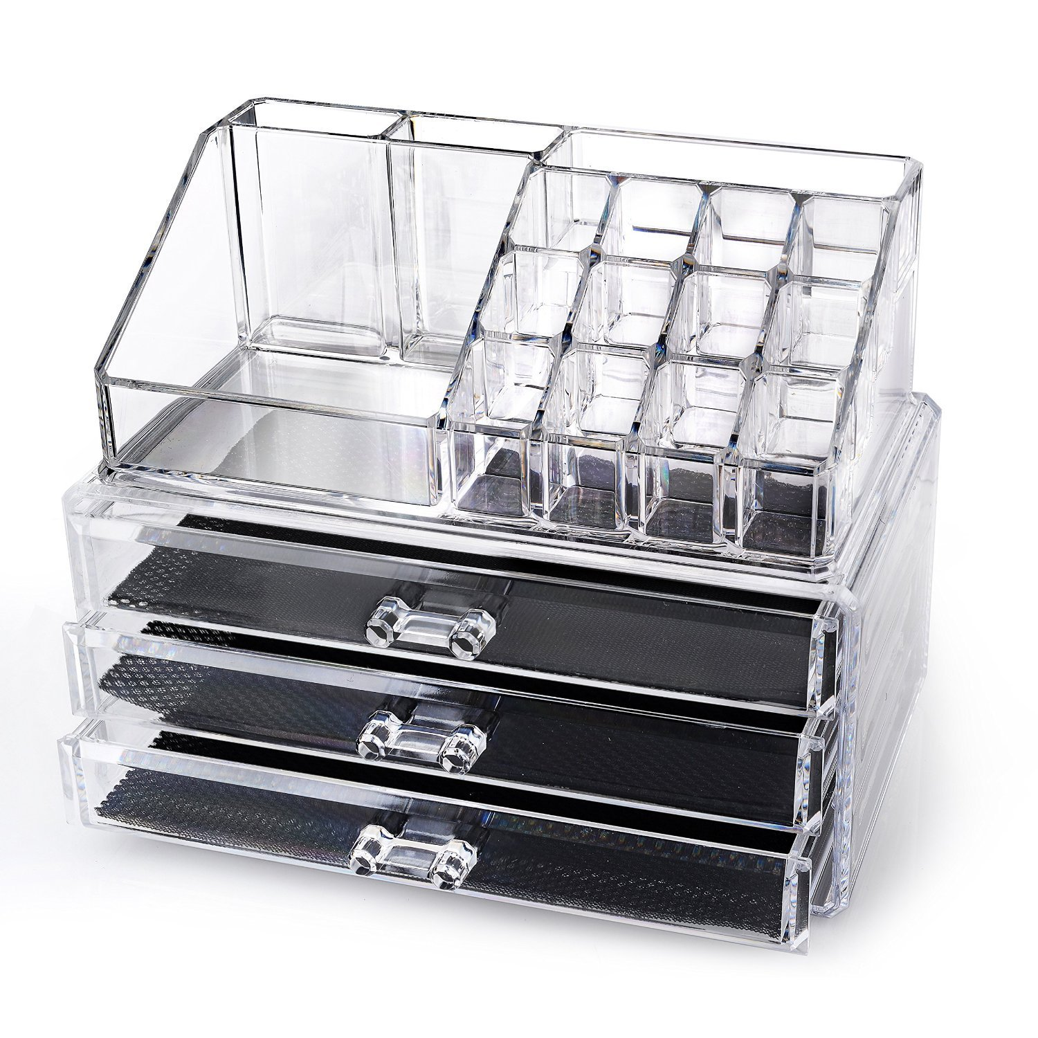 free home it acrylic makeup organizer buyvia. Black Bedroom Furniture Sets. Home Design Ideas
