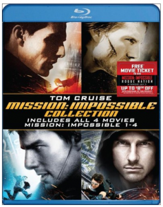 picture of Mission: Impossible Quadrilogy Complete Blu-ray Set Sale with Movie Money