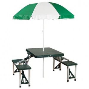 picture of Stansport Picnic Table/Umbrella Combo