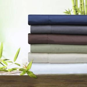 Bamboo 4 Piece Deep Pocket Bed Sheet Set Sale