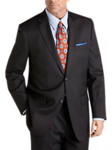 Joseph & Feiss Charcoal Multistripe Suit Separates