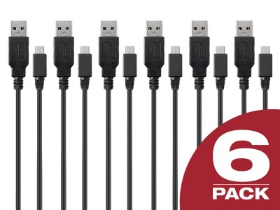 6 pack of 3ft Micro USB Cables