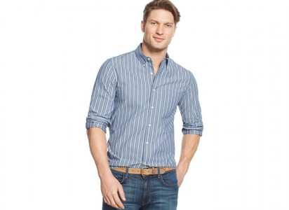 Club room slim fit long sleeve shirt sale
