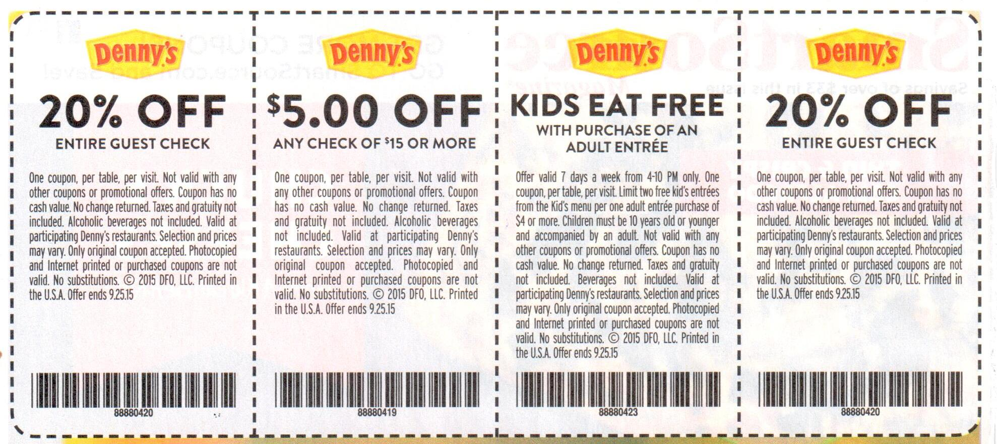 dennys deals march 2019