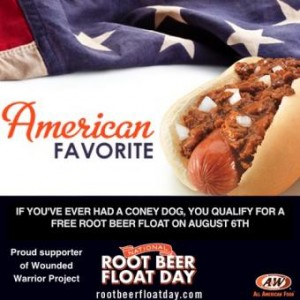 Free A&W Root Beer Float Day