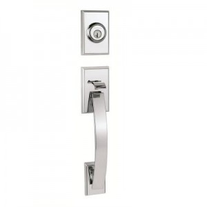 picture of Kwikset Polished Chrome Handleset with Katara Lever