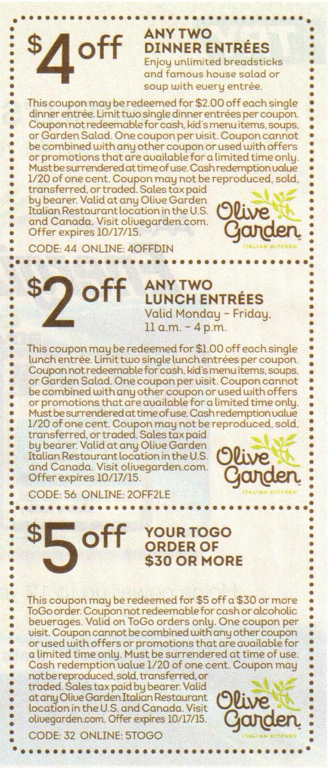 Olive Garden Promo Codes August 2016 Garden Ftempo
