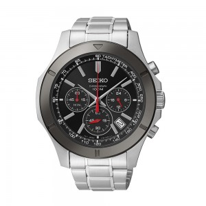 Seiko Men's Stainless Steel Chronograph Watch Sale