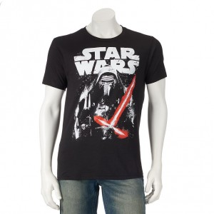 Star Wars Episode VII The Force Awakens Kylo Ren Space Battle Tee - Men