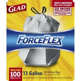 Glad 100-Count 13-Gallon Plastic Indoor Trash Bag Sale
