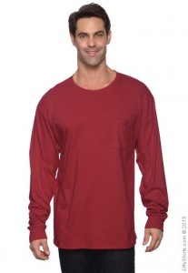 picture of Hanes Men's Long Sleeve T-Shirt with Pocket Sale