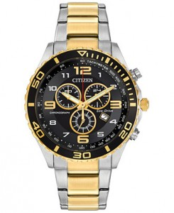 Citizen Men's Chronograph Eco-Drive two-tone stainless steel watch sale