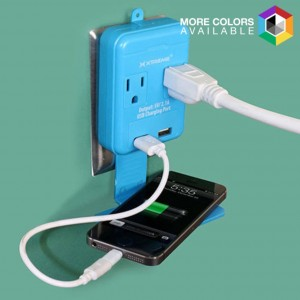 picture of Xtreme Dual Port USB Power Outlet with Device Holder