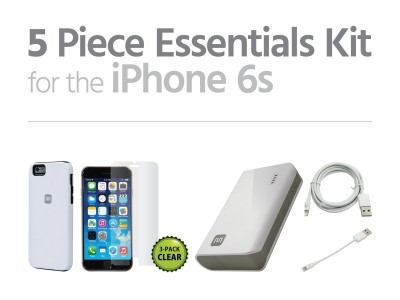 picture of iPhone 6/6S Essentials Kit - Battery, Case, Screen Protector, 2x Cables