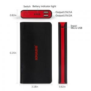 Kmashi 15000mAh Dual USB Portable Charger Sale