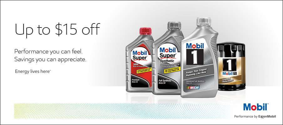 mobil motor oil and oil filter rebate bottles