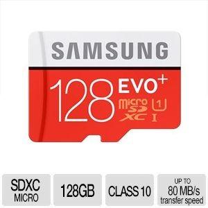 Samsung 128GB UHS1 EVO+ microSDXC Card Sale