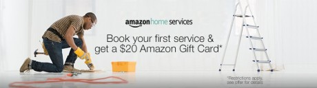 picture of $20 Amazon Gift Card with First Home Service $99 or more