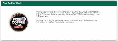 picture of Free Coffee Week at 7-11