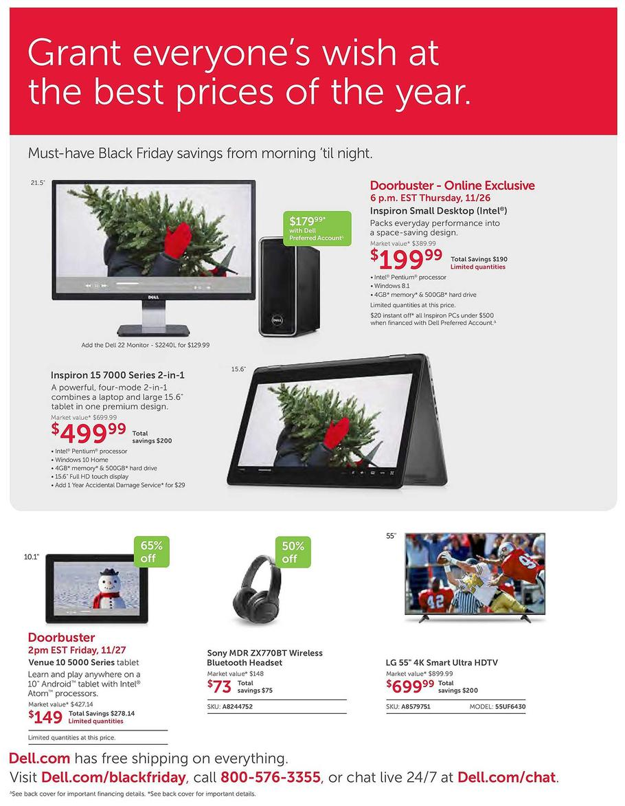 Dell Home 2015 Black Friday Ad