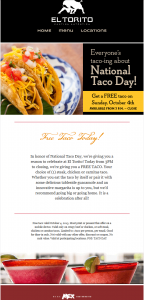 picture of National Taco Day - El Torito Free Taco