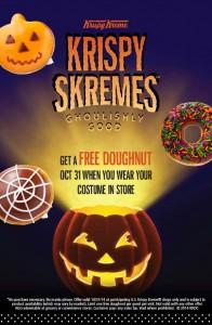 picture of Free Krispy Kreme Donut on Halloween - Costume