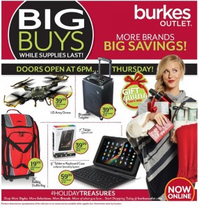 picture of Black Friday 2015: burkes outlet Ad Scan