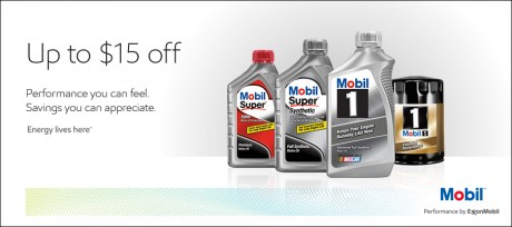 picture of $15 rebate on Mobil One Car Oil