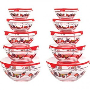 picture of Chef Buddy 20 Piece Glass Bowl Set Sale