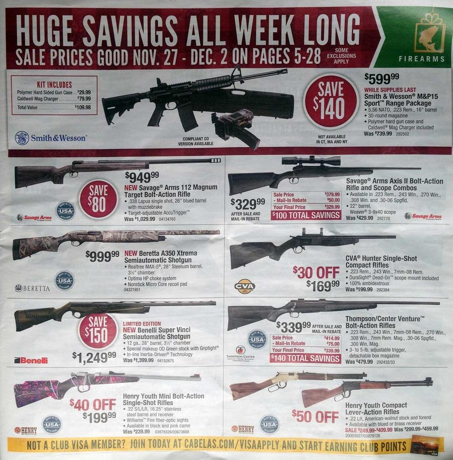 Black friday 2015 cabela 39 s ad scan buyvia for Cabela s fishing sale