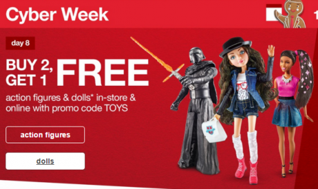 picture of Buy 2 Action Figures & Dolls, Get 1 Free