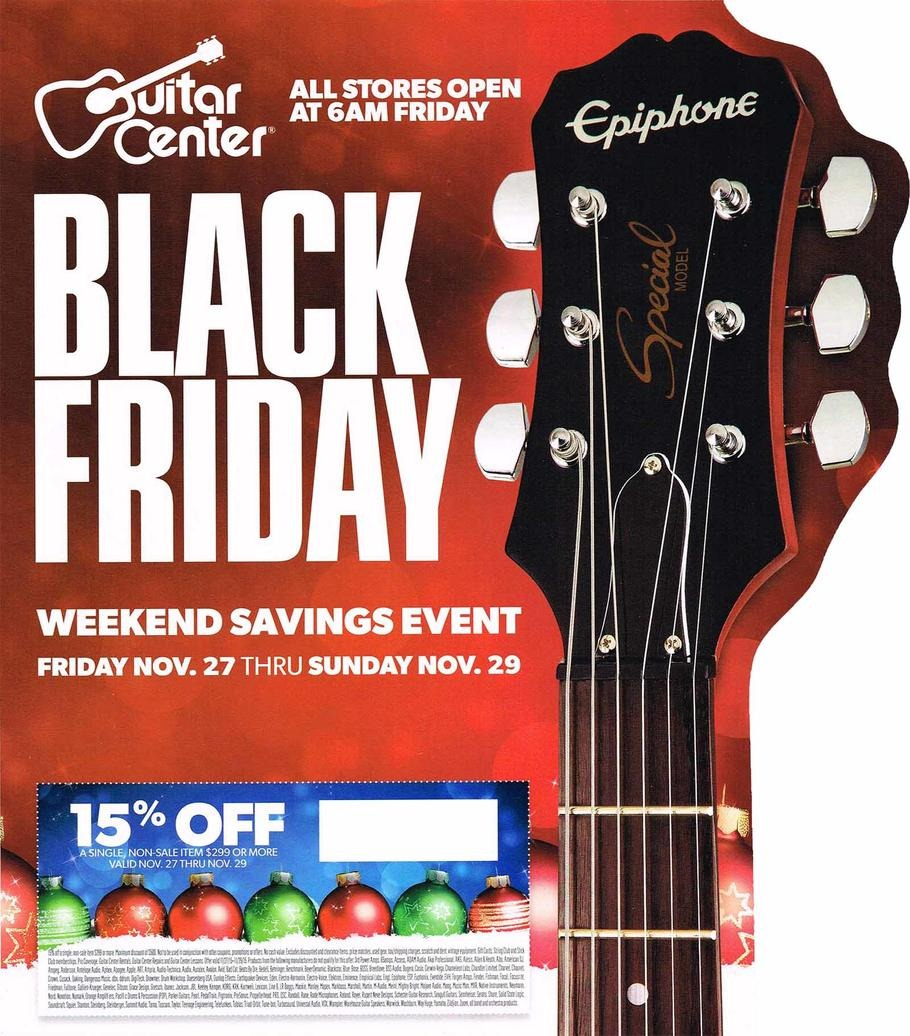 Guitar Center Black Friday Sales