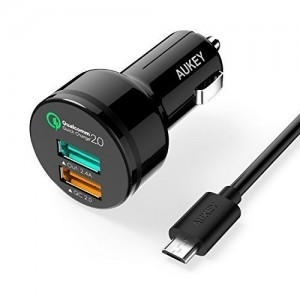 Aukey Quick Charge 2.0 30W 2 Port USB Charger Sale