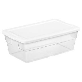 picture of Sterilite Clear Storage Tote 6-qt Sale