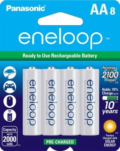 picture of Panasonic Eneloop 8 Pack AA Ni-MH Rechargeable Batteries Sale