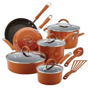 Rachael Ray Cucina 12 Piece Porcelain Enamel Cookware Set Sale