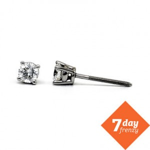 0.25 ct tw diamond stud earrings platinum