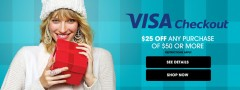 HSN 25 off 50 using Visa Checkout