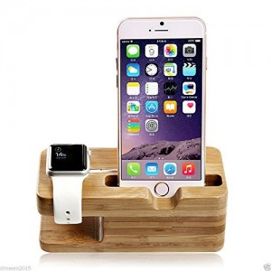Bamboo iPhone and Apple Watch Stand Sale