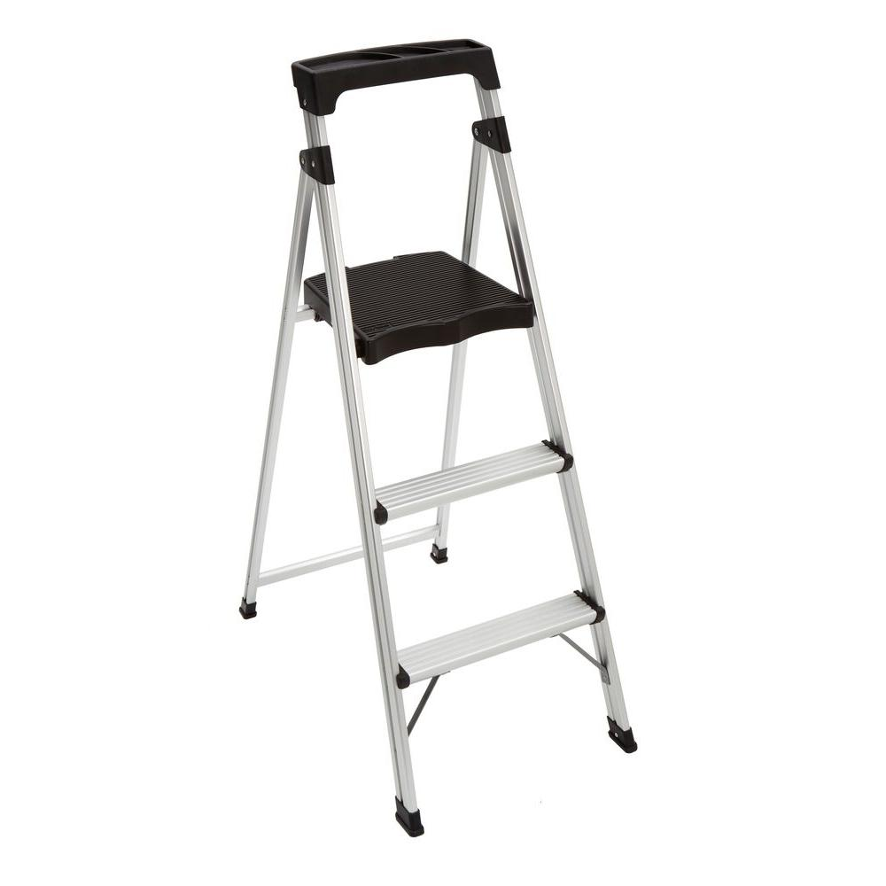 Gorilla Ladders 3 Step Aluminum Ultra Light Step Stool
