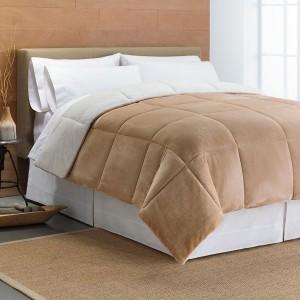 Cuddl Duds Cozy Soft Faux-Mink Down-Alternative Reversible Comforter