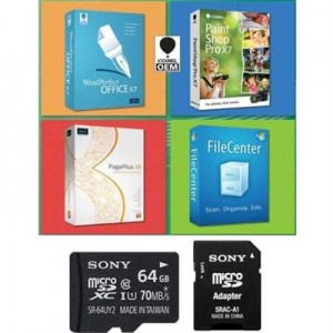 Sony 64GB microSDXC Card Free Corel Software